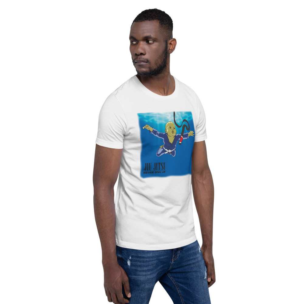 BJJ T-shirt - Never give up, you'll get BJJ black belt 3