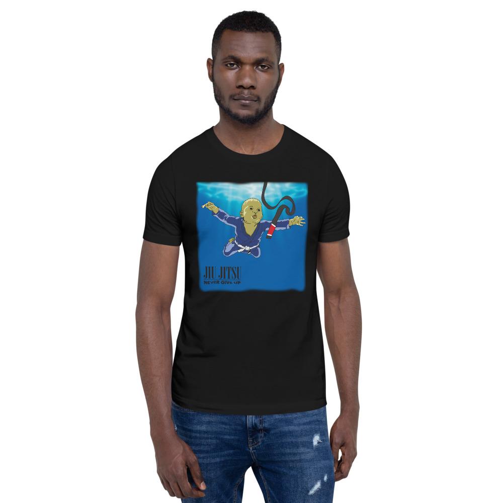 BJJ T-shirt - Never give up, you'll get BJJ black belt 4