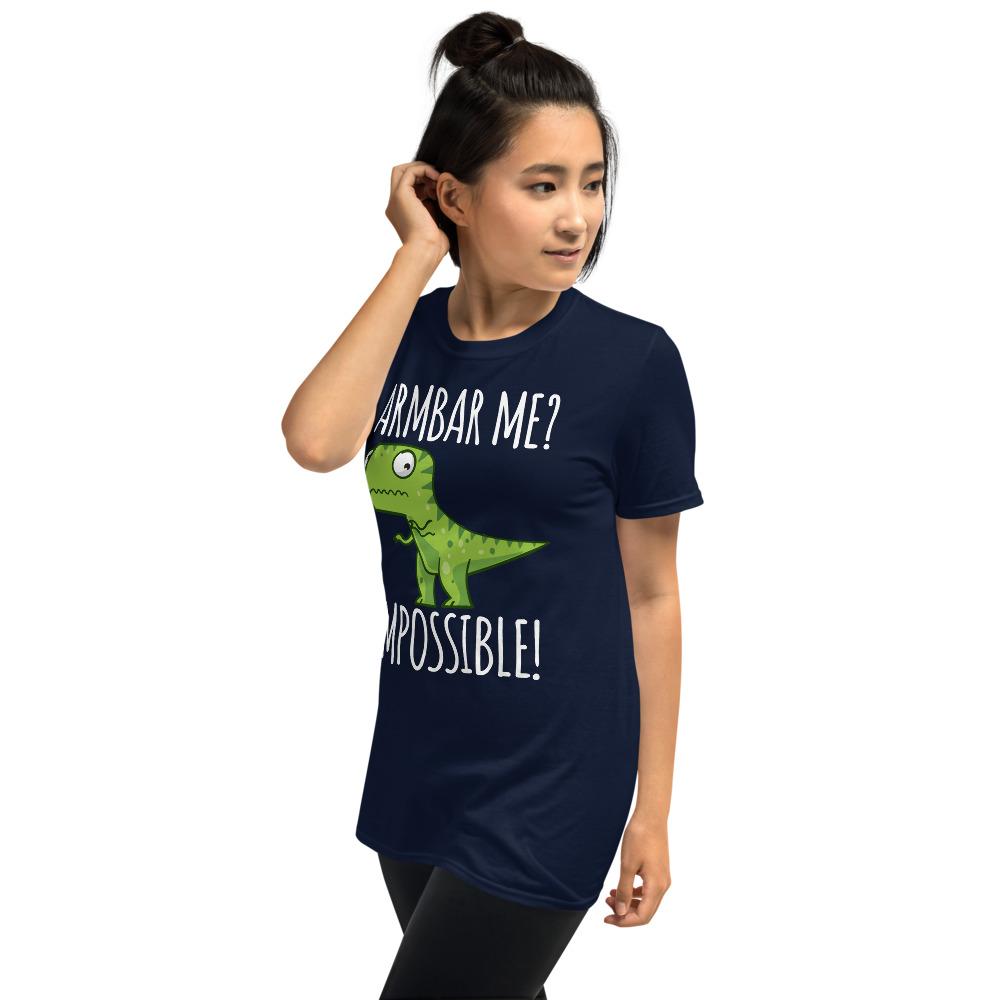 Women BJJ shirt - Brazilian Jiu-jitsu Armbar T-rex? not possible 8