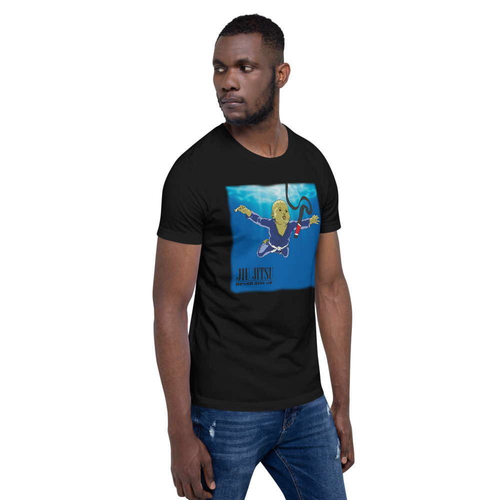 BJJ T-shirt - Never give up, you'll get BJJ black belt 6
