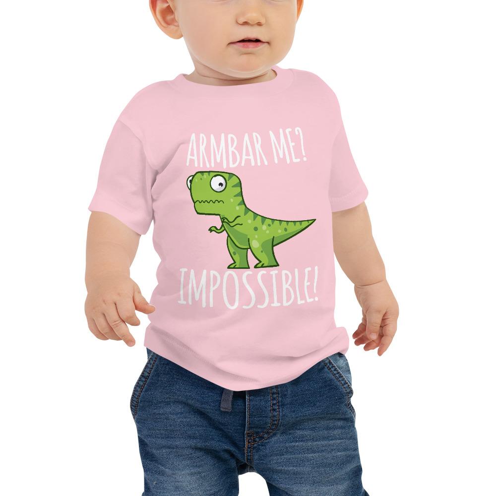 Baby Tee BJJ shirt - Brazilian Jiu-jitsu Armbar T-rex? not possible 3