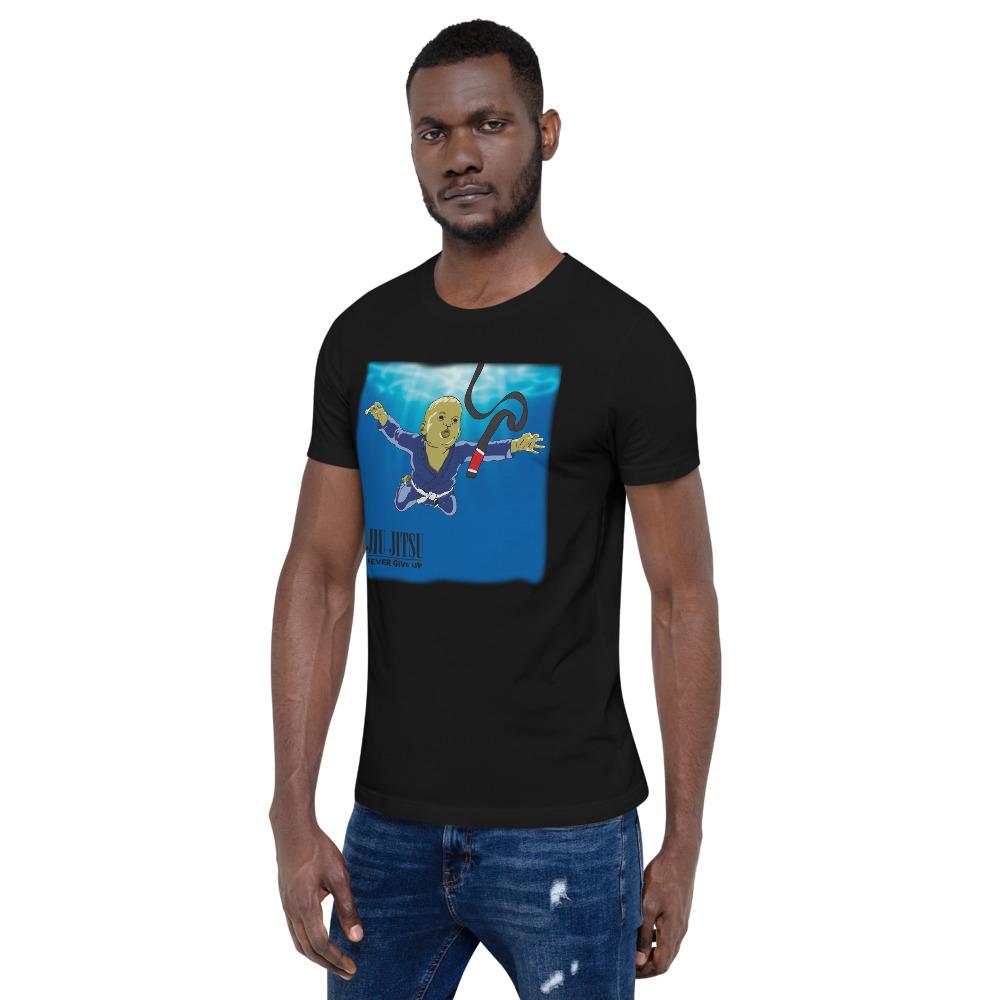 BJJ T-shirt - Never give up, you'll get BJJ black belt 5