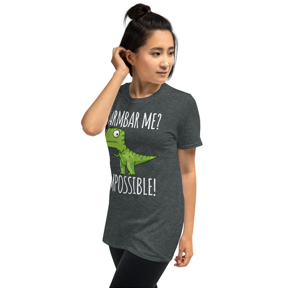 Women BJJ shirt - Brazilian Jiu-jitsu Armbar T-rex? not possible 11