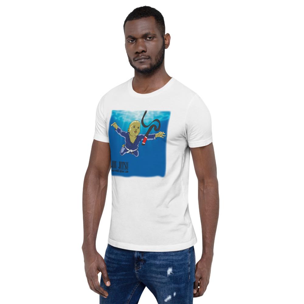 BJJ T-shirt - Never give up, you'll get BJJ black belt 2