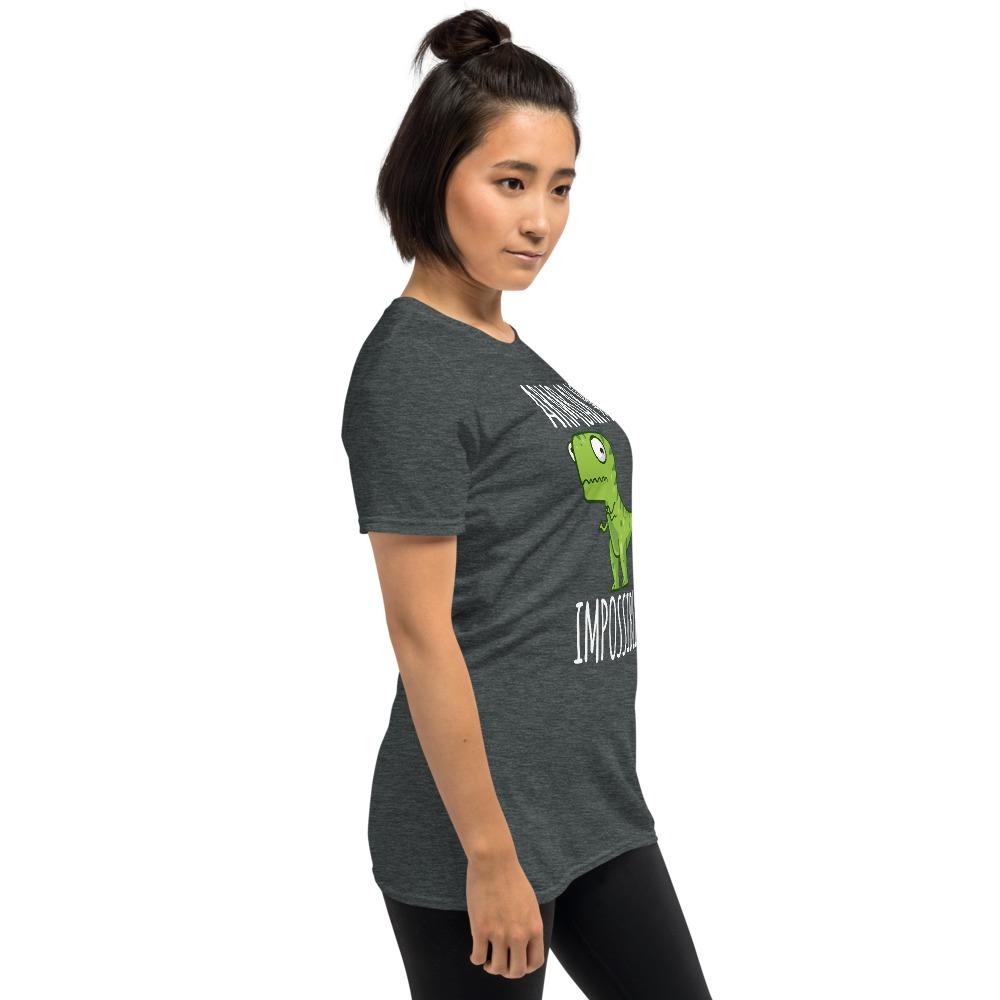 Women BJJ shirt - Brazilian Jiu-jitsu Armbar T-rex? not possible 10