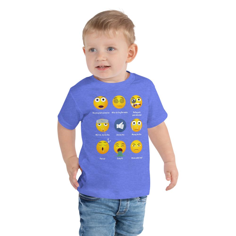 BJJ Toddler Short Sleeve Tee for baby Brazillian Jiu-Jitsu 9 Shades Emoji Emoticons 2