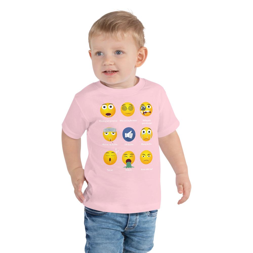 BJJ Toddler Short Sleeve Tee for baby Brazillian Jiu-Jitsu 9 Shades Emoji Emoticons 3