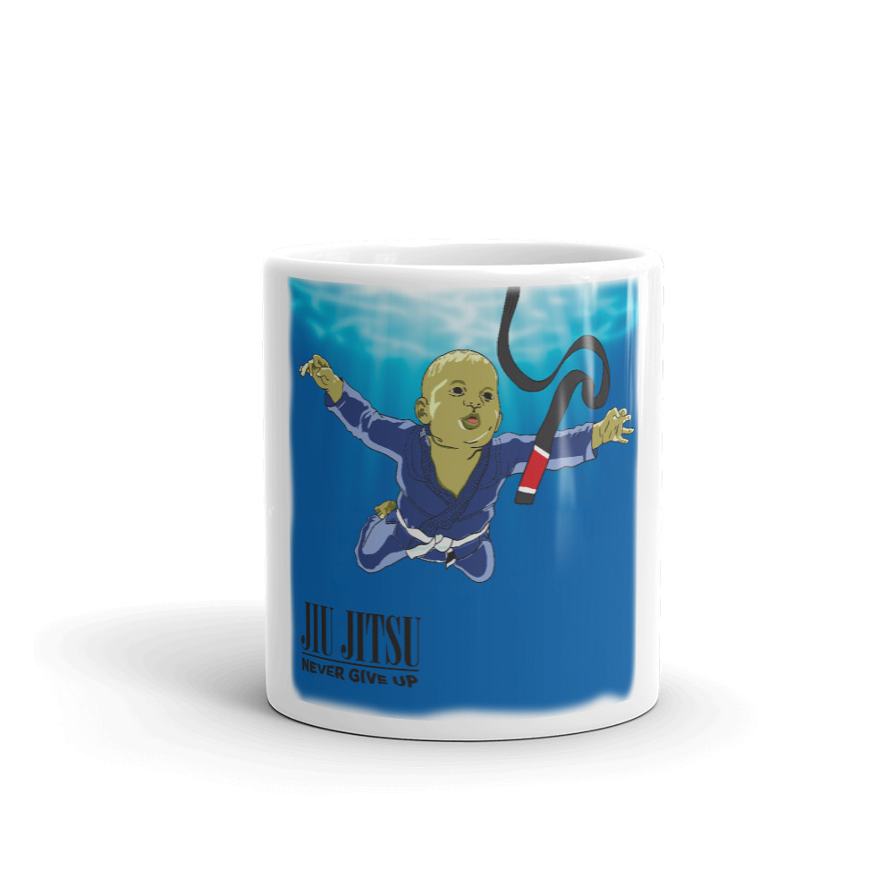 BJJ Coffe Mugs - Nerver give up and you will get black belt 1