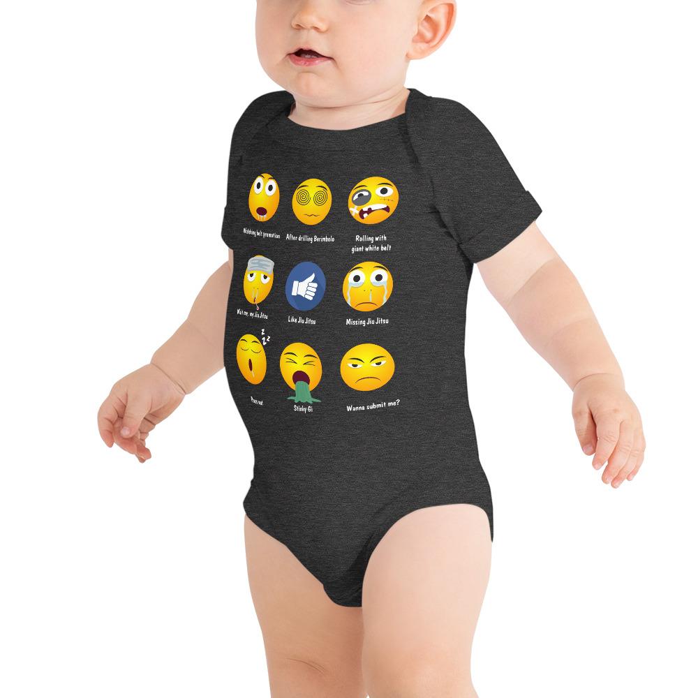 BJJ Baby Body Suite Brazillian Jiu-Jitsu 9 Shades Emoji Emoticons 1
