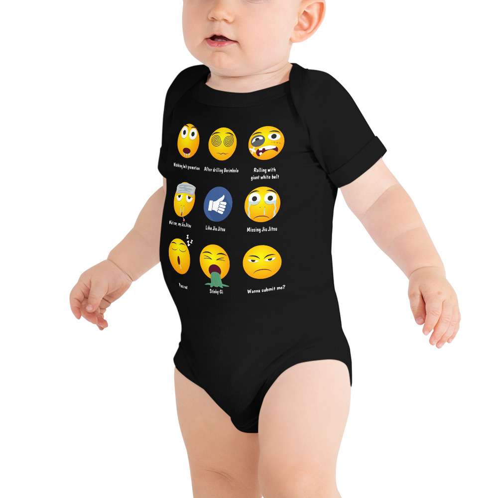 BJJ Baby Body Suite Brazillian Jiu-Jitsu 9 Shades Emoji Emoticons 2