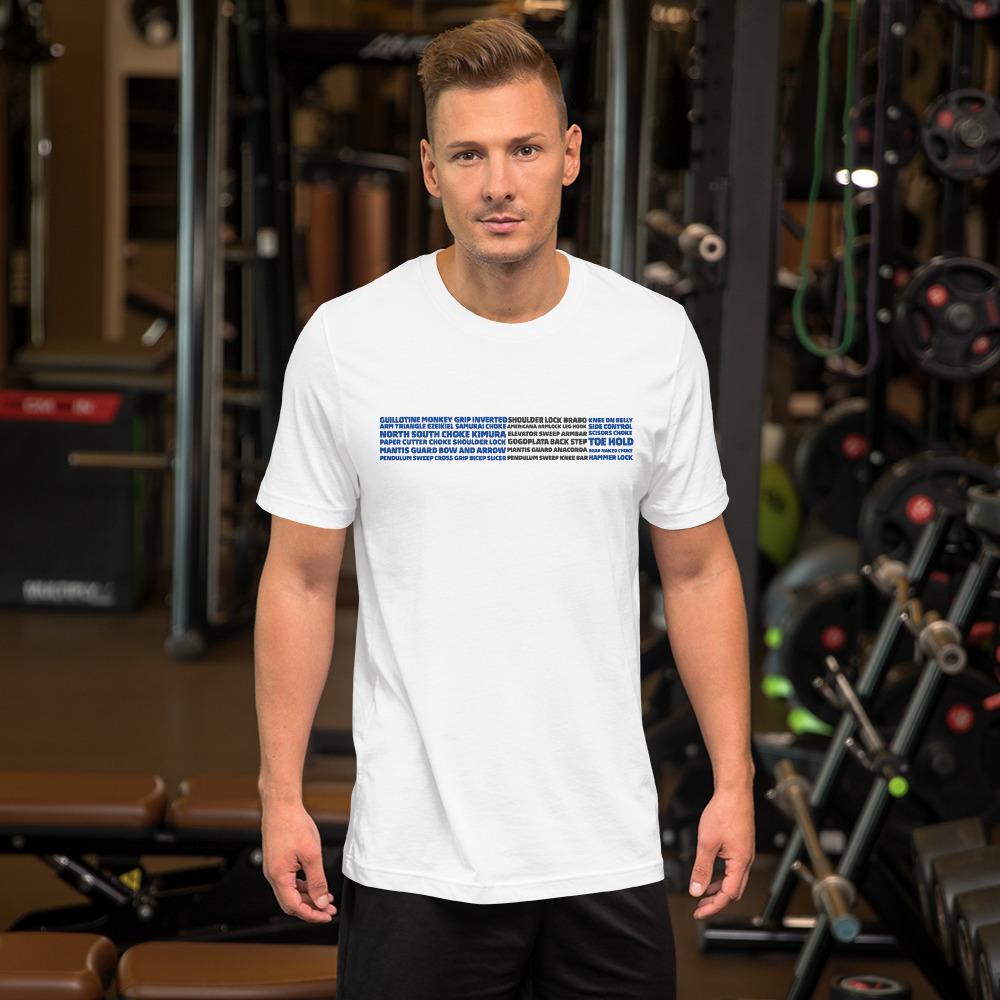 Show Your Rank By BJJ Short-Sleeve T-Shirt Brazilian Jiu-Jitsu BJJ Blue Belt – BJJ Submission 1