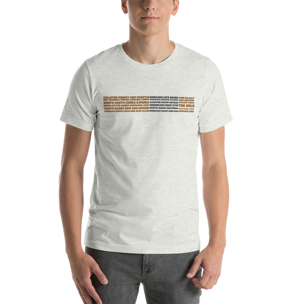 Show Your Rank By BJJ Short-Sleeve T-Shirt Brazilian Jiu-Jitsu BJJ Brown Belt – BJJ Submission 6
