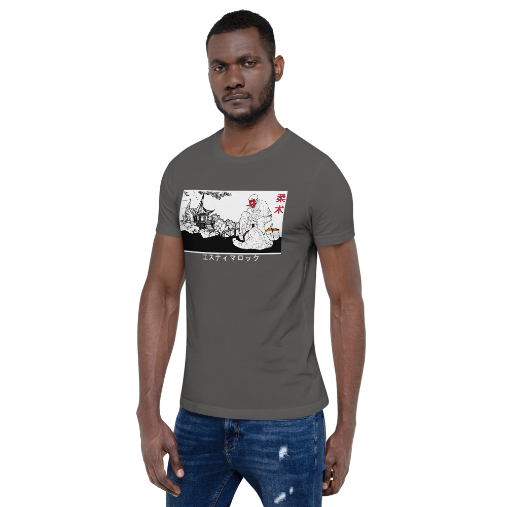 Brazilian Jiu-Jitsu Estima Lock – Ancient Japanese Artwork Short-Sleeve BJJ T-Shirt 11