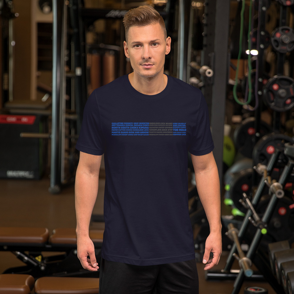 Show Your Rank By BJJ Short-Sleeve T-Shirt Brazilian Jiu-Jitsu BJJ Blue Belt – BJJ Submission 4
